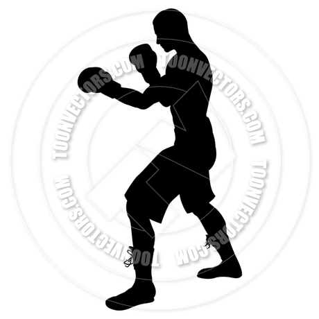 460x460 Boxer Silhouette By Geoimages Toon Vectors Eps