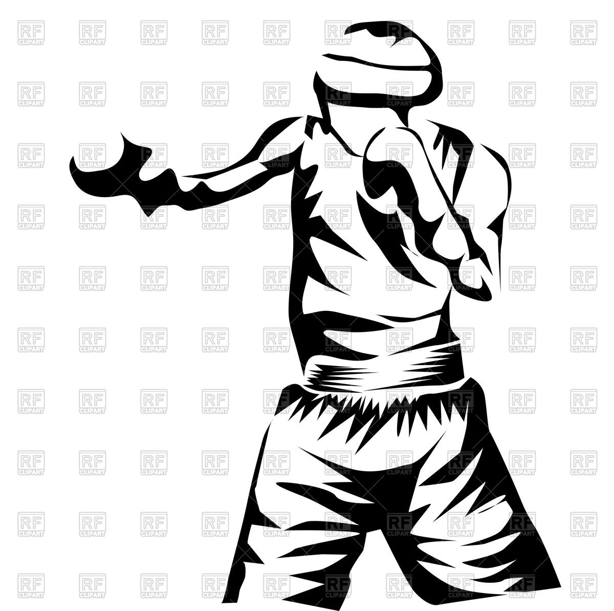 1200x1193 Silhouette Of Boxer Royalty Free Vector Clip Art Image