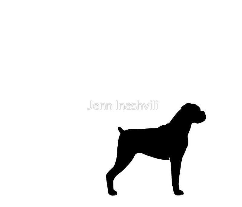 800x682 Boxer Dog Silhouette(S) Travel Mugs By Jenn Inashvili Redbubble