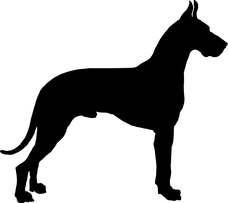 1389x1240 Boxer Dog Sitting Silhouette. Ebay