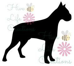 237x213 Boxer Instant Download Boxer Dog Silhouette Svg File
