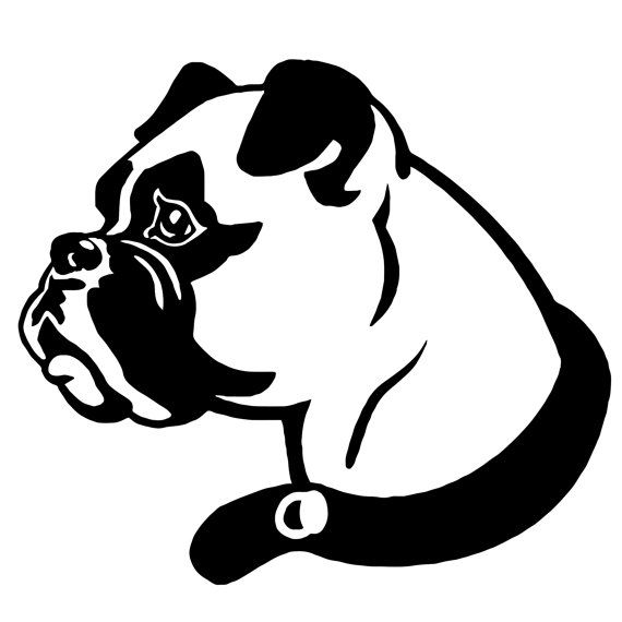 570x570 Dog Head Decal Dog, Etsy And Stenciling
