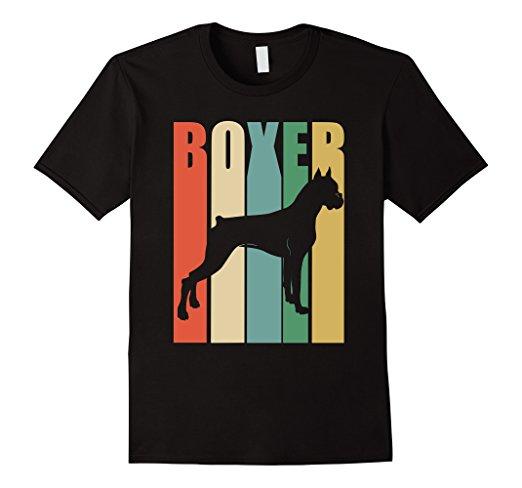 522x488 Boxer Dog Vintage Rainbow Style Silhouette T Shirt