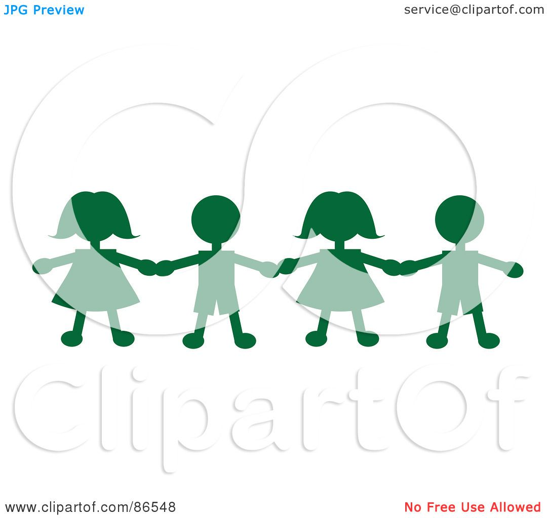 1080x1024 Royalty Free (Rf) Clipart Illustration Of A Line Of Green Paper