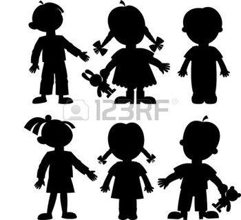 350x319 Silhouette Enfant Enfants Illustration Silhouettes
