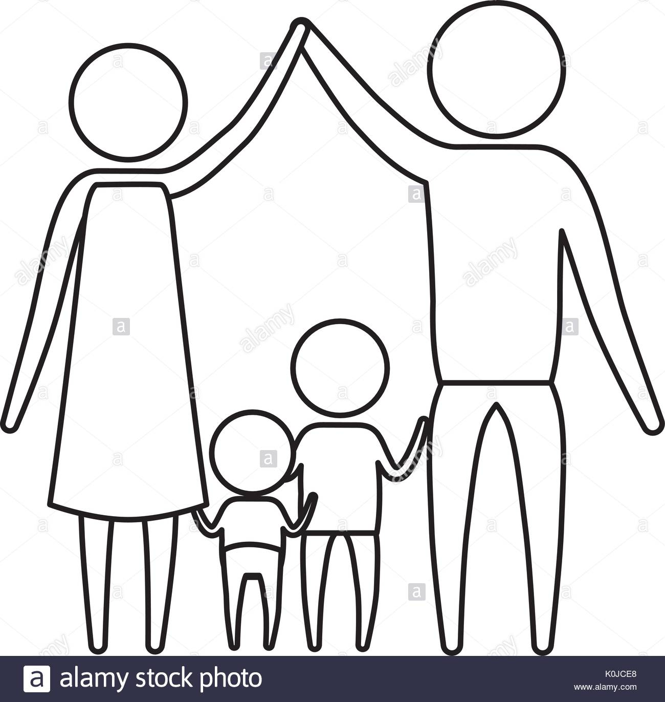 1300x1371 Sketch Silhouette Of Pictogram Parents Holding Hands Up And Baby