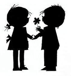 236x252 Boy And Girl Silhouette Clip Art