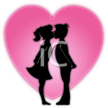 349x350 Picture Silhouette Boynd Girl Kisses In Front