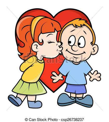420x470 Boy And Girl Kissing Cartoon Collection