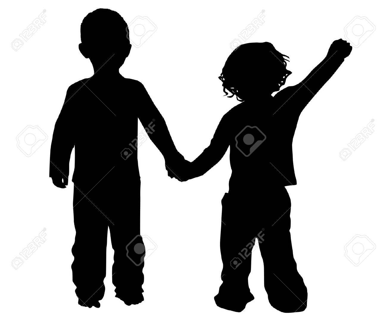 1300x1092 Clip Art Boy And Girl Silhouette Clip Art