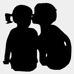 300x300 Boy And Girl Kissing Silhouette Collection