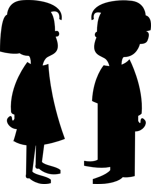 492x597 Girl And Boy Clip Art