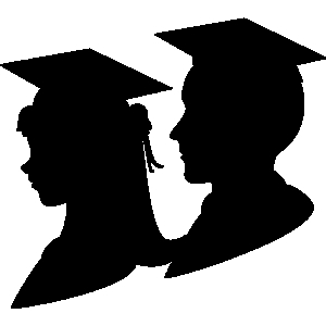 300x300 Graduation Girl And Boy Graduate Clipart Clip Art Library