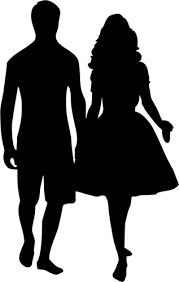 179x282 Man And Woman Silhouette Clip Art Couple Clipart Image