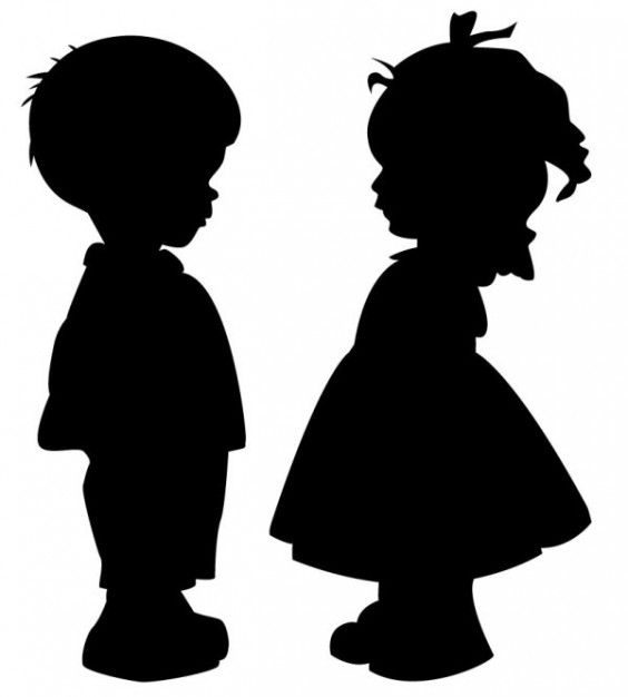 564x626 Children Silhouettes Children Silhouette Stuff To Buy