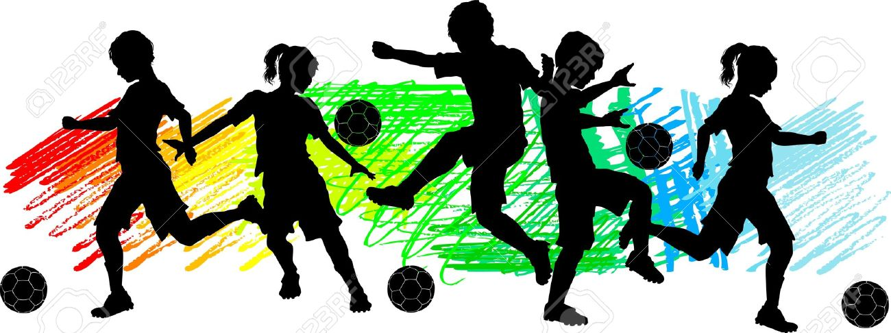 1300x486 Kickball Team Silhouette Clipart