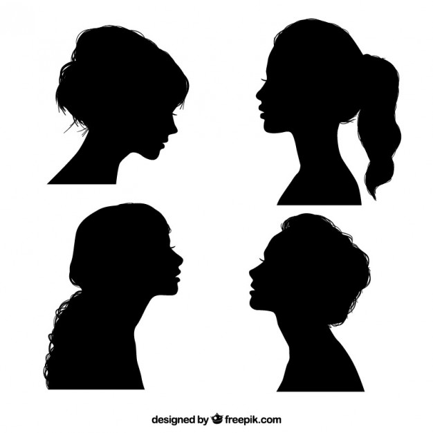 626x626 Black Girl Silhouettes Vector Free Download