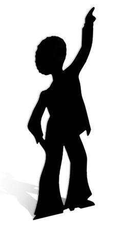 250x446 Disco Dancer Silhouette Boy Cardboard Cutout