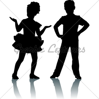 325x325 Happy Silhouette Smaall Girl Gl Stock Images