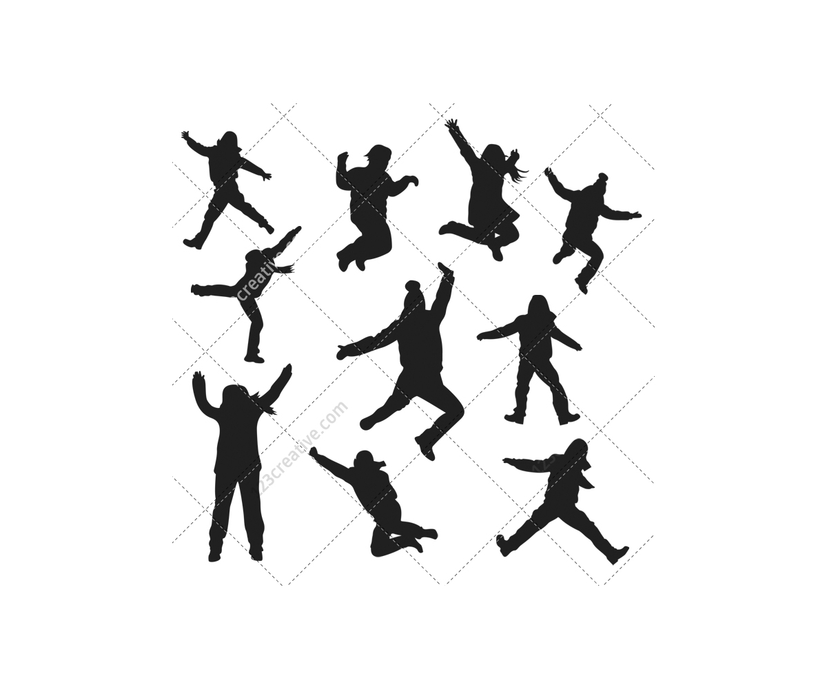 1200x1000 Jumping Silhouettes