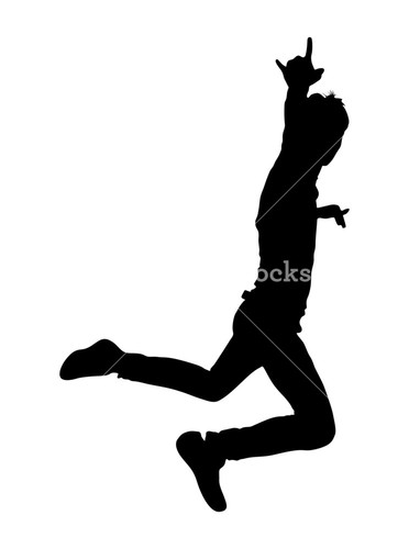 372x500 Stunt Boy Jumping Pose Royalty Free Stock Image