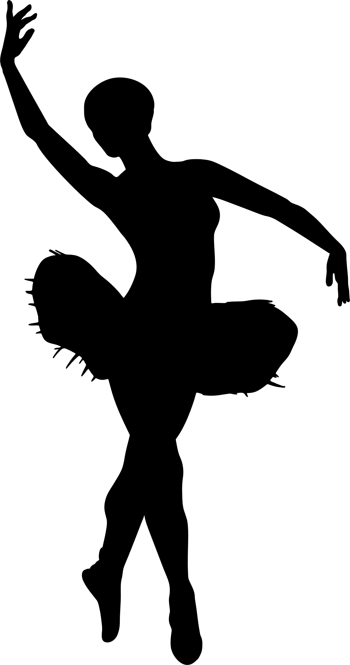 1200x2276 Dancer Clipart Silhouette