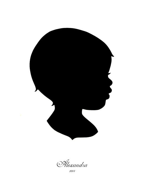 570x713 Custom Hand Cut Silhouette Portrait Profile By Merrypapercrafting