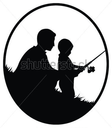 379x430 Father And Son Fishing Clipart