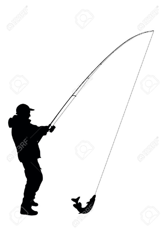 830x1186 Fishing Silhouette
