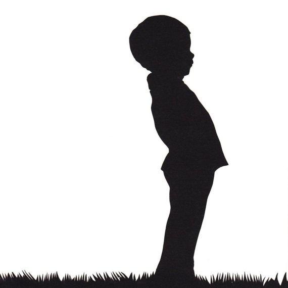 570x570 Little Boy Silhouette Papercut Cricut, Silhouette, Vinyl
