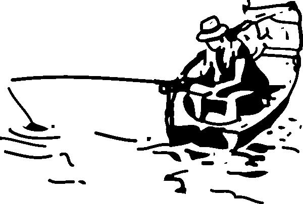 600x405 Man Fishing Silhouette Clipart Panda