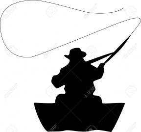 288x269 Sitting Fishing Clipart Black And White