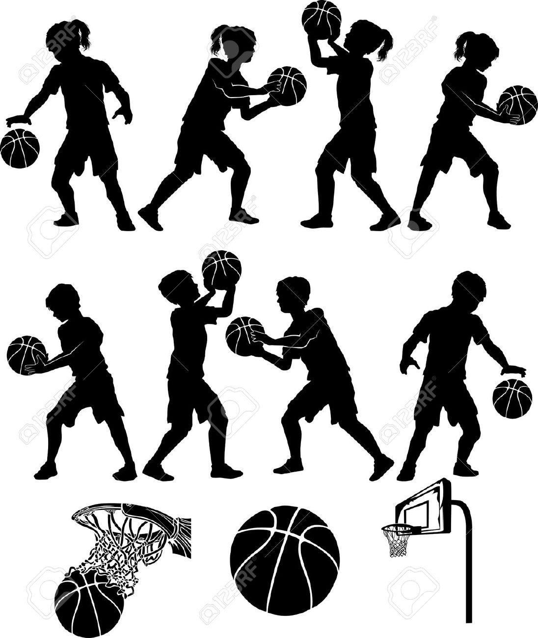 1096x1300 Boys Basketball Silhouette Clipart
