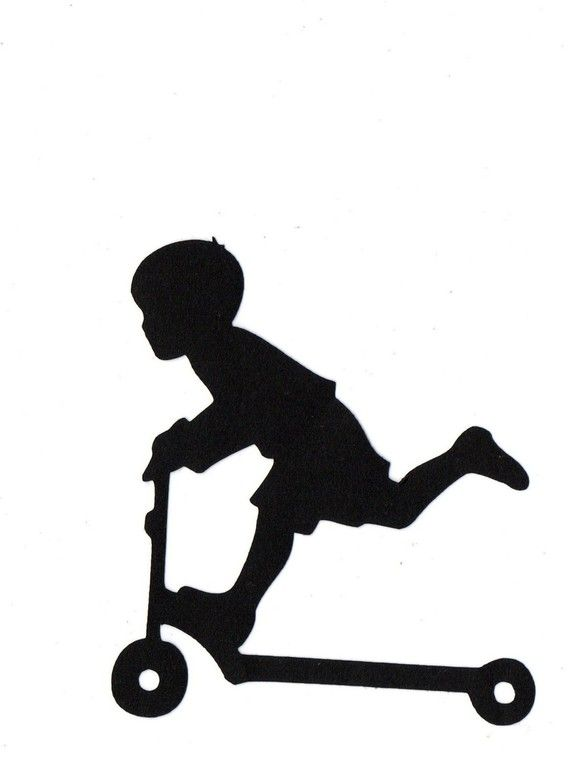 570x766 Items similar to BOY riding scooter Child Silhouette die cut for