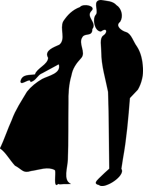 462x597 Kissing Silhouette Clip Art