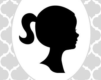 340x270 Little girl silhouette SoSo#39s Way Pinterest Girl silhouette