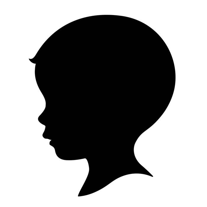 700x700 Kid Boy Head Silhouette Wall Decal Wallmonkeys