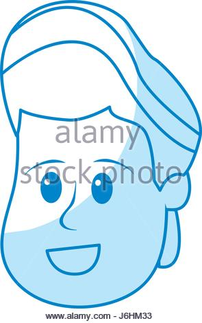 295x470 Silhouette Avatar Boy Head With Hairstyle Design Stock Vector Art