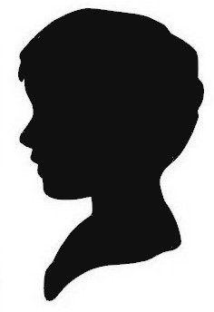 236x344 Boy Head Silhouette Svg