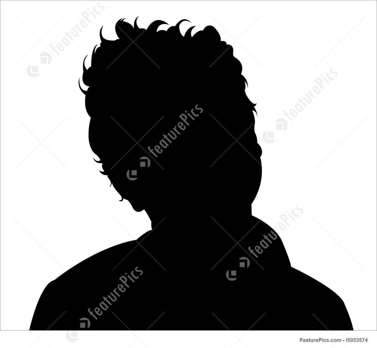 1300x1200 Boy Head Silhouette Illustration