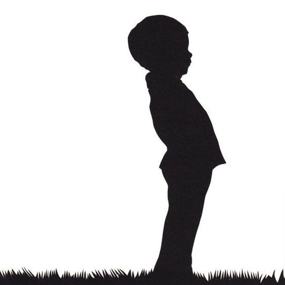 564x564 Little Boy Silhouette Papercut Cut Files