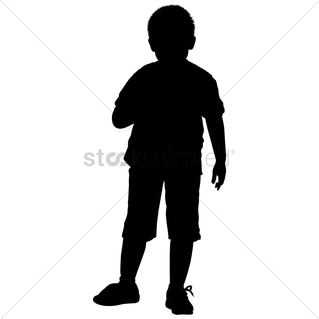 1300x1300 Silhouette Of A Boy Standing Vector Image