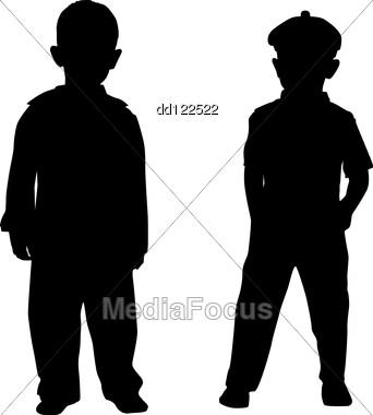 342x380 Silhouettes Of Two Small Boys
