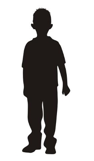 193x330 Young Boy Silhouette 1 Decal Sticker