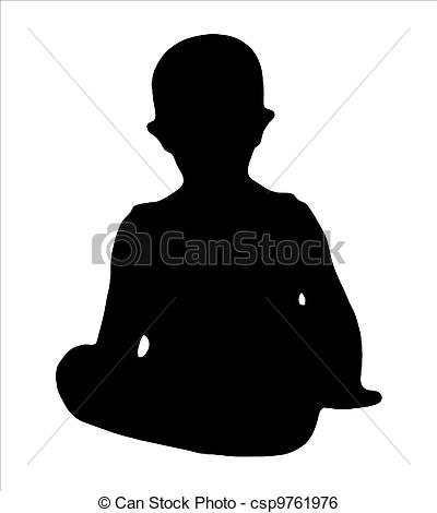 400x470 Silhouette Of A Little Boy Silhouette Of Sitting Little Stock