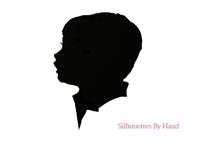 432x288 Freehand Scissored Silhouette Portraits (set of 2) Silhouettes