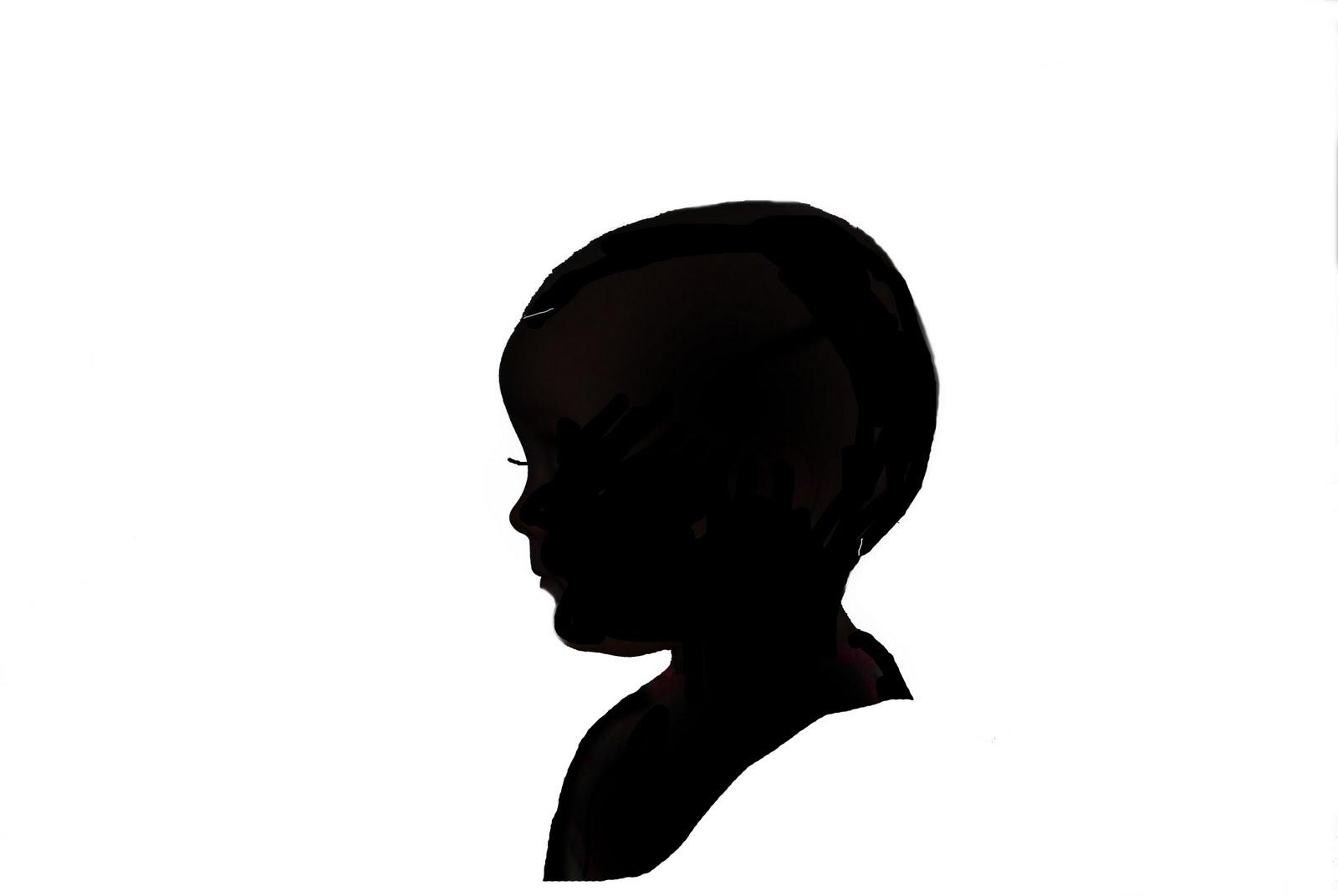 1600x1071 Girl Head Silhouette