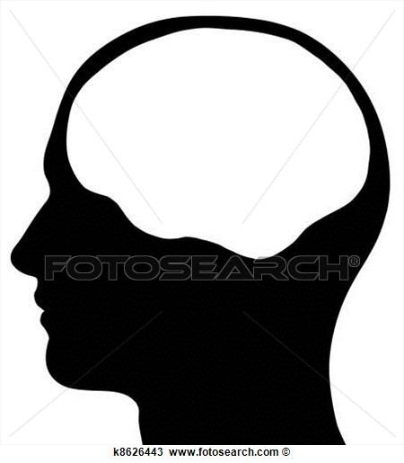 450x515 Head Silhouette Clipart