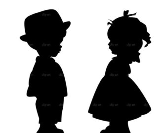 340x270 Shadows Clipart Little Boy