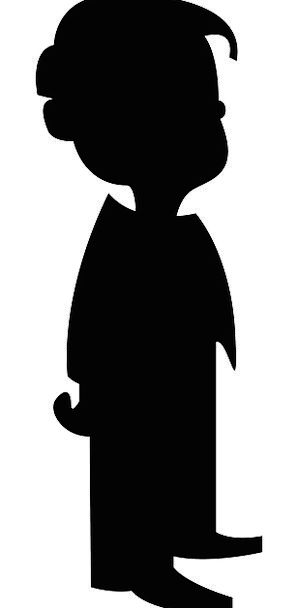 298x608 Child, Youngster, Outline, Black, Dark, Silhouette, Standing